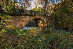 Kirkwhelpington drogi most Zdjęcia Stock