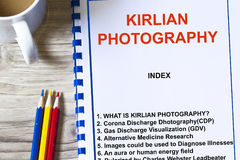 Kirlian photography. Human aura  photography- kirlian photography , gas discharge visualiztion Royalty Free Stock Photos
