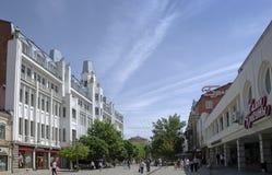 Kirov aveny i Saratov Arkivbild