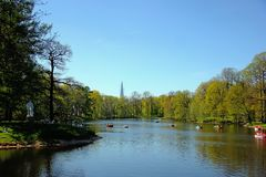Kirov Central Park Yelagin ilha no maio de 2018 St Petersburg Rússia fotos de stock royalty free