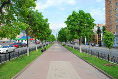Kirov street in Kaluga, Russia Royalty Free Stock Image