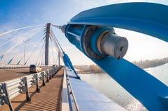 Kirovsky-Kabelbrücke Stockbild