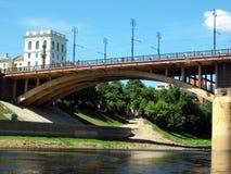 Kirow-Brücke Vitebsk, Weißrussland Lizenzfreie Stockfotos