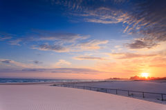 Kirra Beach at sunrise (Queensland, Australia) Stock Image