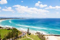 Kirra strand på Goldet Coast Royaltyfria Bilder