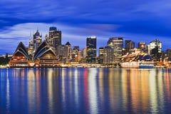 Kirribilli del blu della nave di Sydney CBD Fotografie Stock
