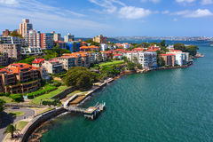 Kirribilli district is a harbourside suburb, sitting on the Lower North Shore of Sydney Harbour. Stock Photos