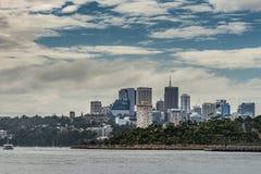 Kirribilli dzielnicy biznesu linia horyzontu, Sydney Australia Zdjęcia Stock