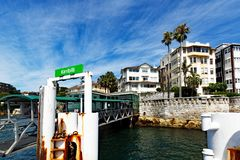 Kirribilli Ferry Stop, Sydney harbour, Australia Royalty Free Stock Photography