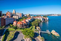 Kirribilli skyline in Sydney Stock Image