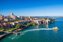 Kirribilli skyline in Sydney Royalty Free Stock Photos