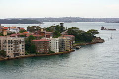 Kirribilli suburb from the air Royalty Free Stock Photo