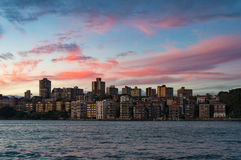 Kirribilli suburb of Sydney at sunset Stock Photo