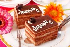Kirsch- und Schokoladenkuchen Lizenzfreies Stockfoto