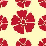 Kirschblüte blüht nahtlosen Musterhintergrund lizenzfreie abbildung