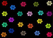Kirschblumenmuster auf schwarzem Hintergrund Stockfotos