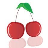 Kirsche in der roten Vektorillustration Lizenzfreie Stockfotos