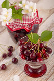 Kirsche gedämpfte Frucht Lizenzfreies Stockbild