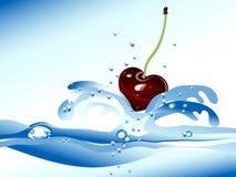 Kirsche im Wasser Stockfotos