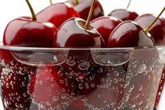 Kirschen in einem Glas Lizenzfreies Stockfoto