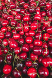 Kirschen in einem Markt stockfotografie