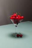 Kirschen im glass-7 Stockfoto