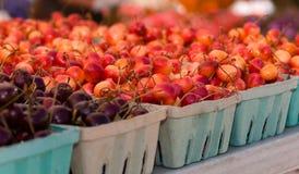 Kirschen am Markt Lizenzfreie Stockbilder