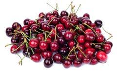Kirschfrüchte getrennt auf Weiß Lizenzfreies Stockfoto