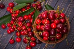 Kirschfrucht in der Schüssel Stockfotografie