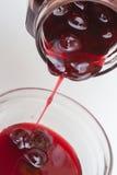 Kirschmarmelade in einem Glas lizenzfreie stockfotografie