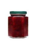Kirschmarmelade im Glas lizenzfreies stockbild