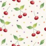 Kirschnahtloses Muster Hintergrund, Muster, Gewebedesign, Packpapier, Abdeckung Stockbild