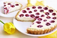 Kirschoffene Torte Lizenzfreies Stockbild