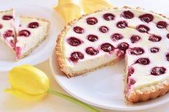 Kirschoffene Torte Lizenzfreies Stockfoto