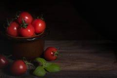 Kirschtomaten in der Schüssel Lizenzfreies Stockbild