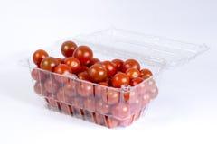Kirschtomatenpaket Stockbild