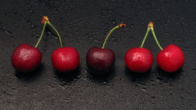 Kirschzeile Stockbild
