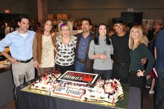 Kirsten Vangsness,A. J. Cook,Paget Brewster,Thomas Gibson,Shemar Moore,Matthew Gray Gubler. Criminal Minds stars Thomas Gibson (left), Matthew Gray Gubler Royalty Free Stock Images