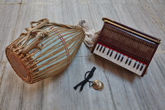 Kirtan instrument royaltyfria bilder