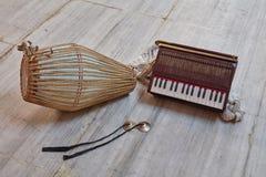 Kirtan-Instrumente Stockbild