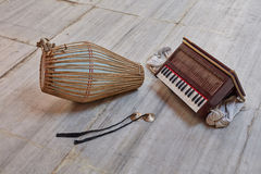 Kirtan-Instrumente Lizenzfreie Stockbilder
