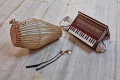 Kirtan-Instrumente Lizenzfreies Stockfoto