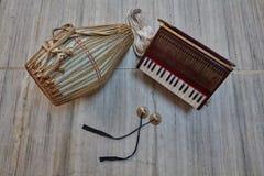 Kirtan-Instrumente Lizenzfreies Stockbild