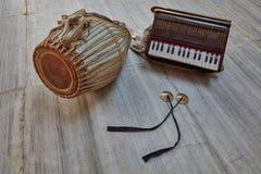 Kirtan-Instrumente Lizenzfreie Stockfotos