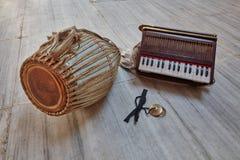 Kirtan-Instrumente Stockfotografie
