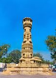 Kirti Stambha Tower of Hutheesing Jain Temple in Ahmedabad - Gujarat, India Stock Image