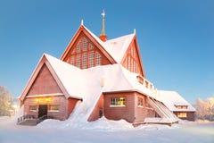 Kiruna cathedral Sweden Stock Photo