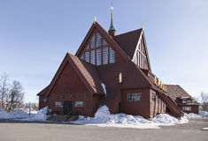 Kiruna church. A churh in Kiruna above the polar-circle, it has a special kind of architecture and look Royalty Free Stock Images