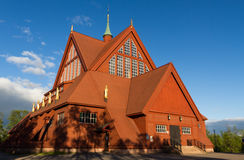 Kiruna church. Old church in Kituna, Sweden Royalty Free Stock Images