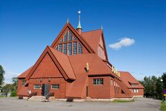Kiruna Church in the Summer. (Northern Sweden Stock Photos
